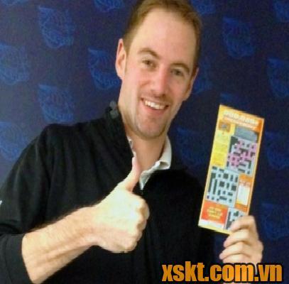 Anh Christopher Kaelin đã may mắn trúng số tới 3 lần trong 3 tuần