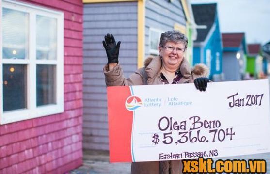 Dãy số trong mơ giúp bà Olga đổi đời với giải thưởng trên 5 triệu CAD