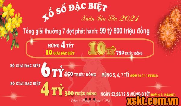 XSMB phát hành 7 đợt vé đặc biệt mừng xuân Tân Sửu