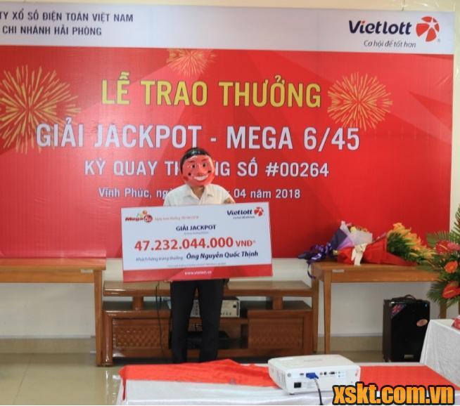 Hình ảnh anh Thịnh tại Vĩnh Phúc may mắn trúng Vietlott 47 tỷ đồng